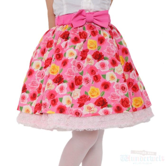 Angelic Prettyのバラ柄スカートの買取実績