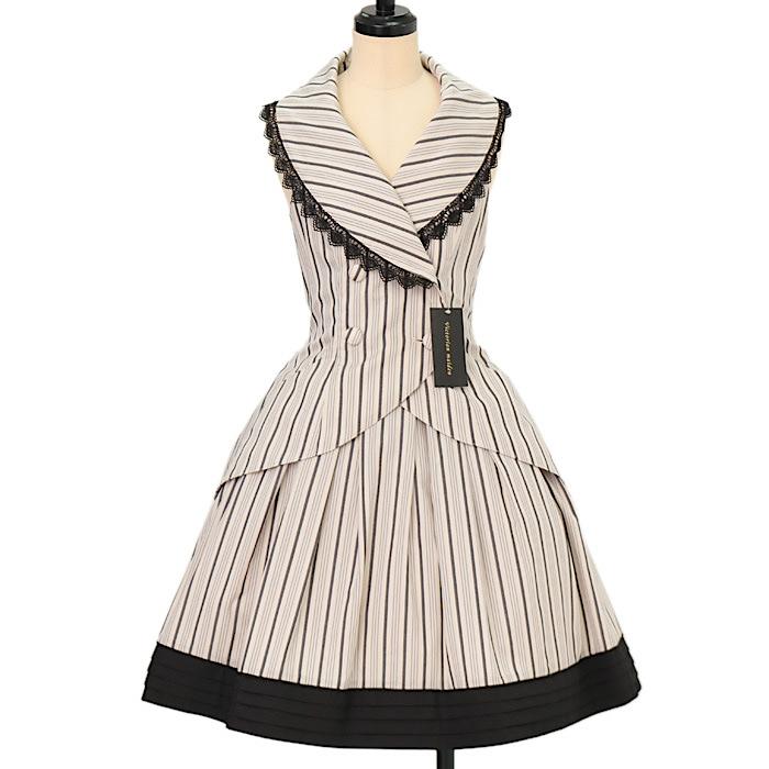 Victorian Maidenのレジメンタルストライプベスト+スカートセットの買取実績