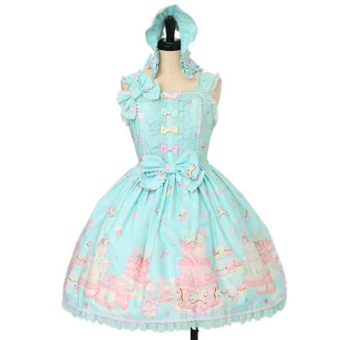 Angelic PrettyのDecoration Dream後ろフリルジャンパースカート+ボンネットの買取実績
